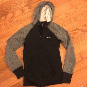 Black & Gray Nike Zip-Up Therma-Fit Hoodie